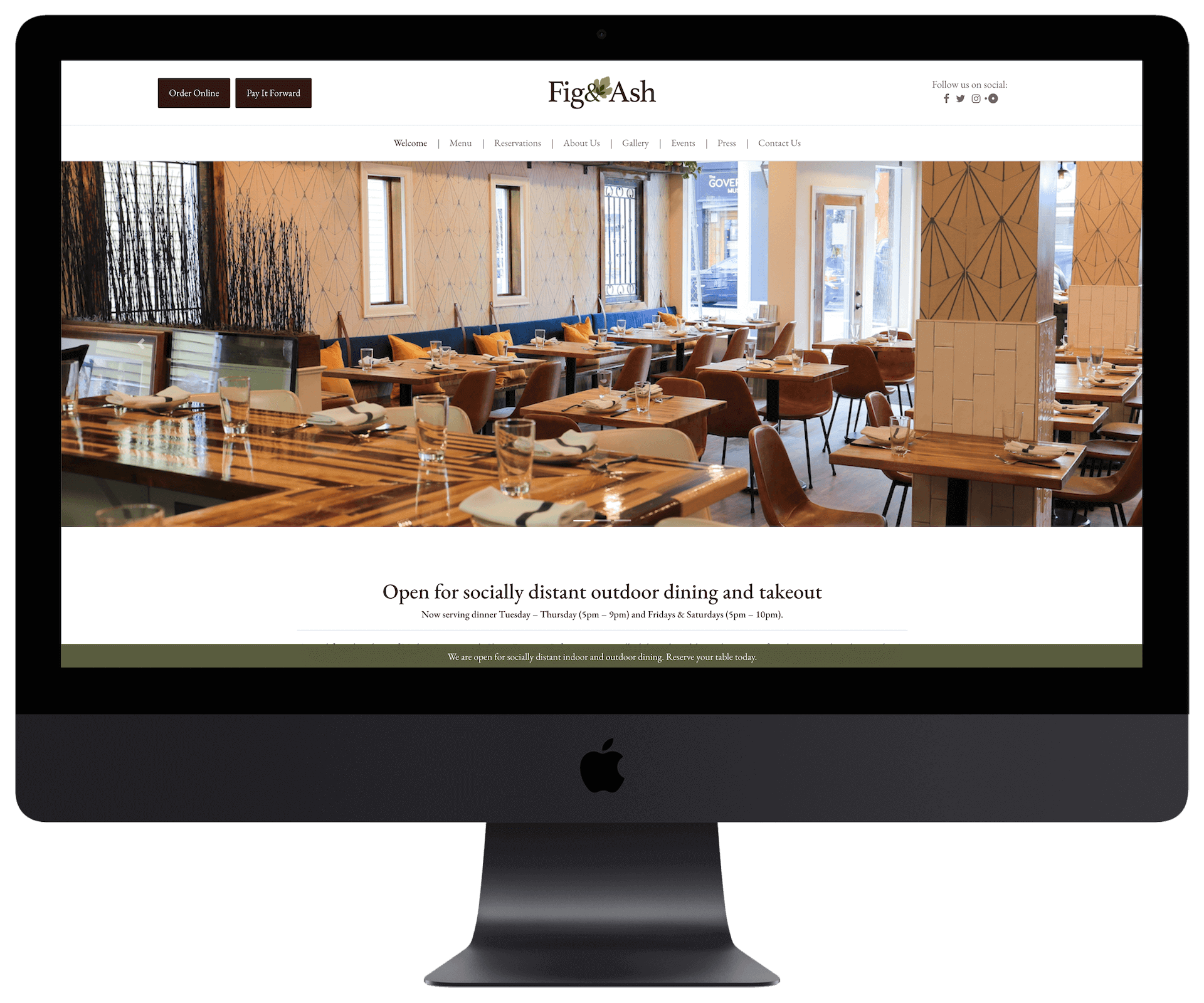 Fig & Ash website design