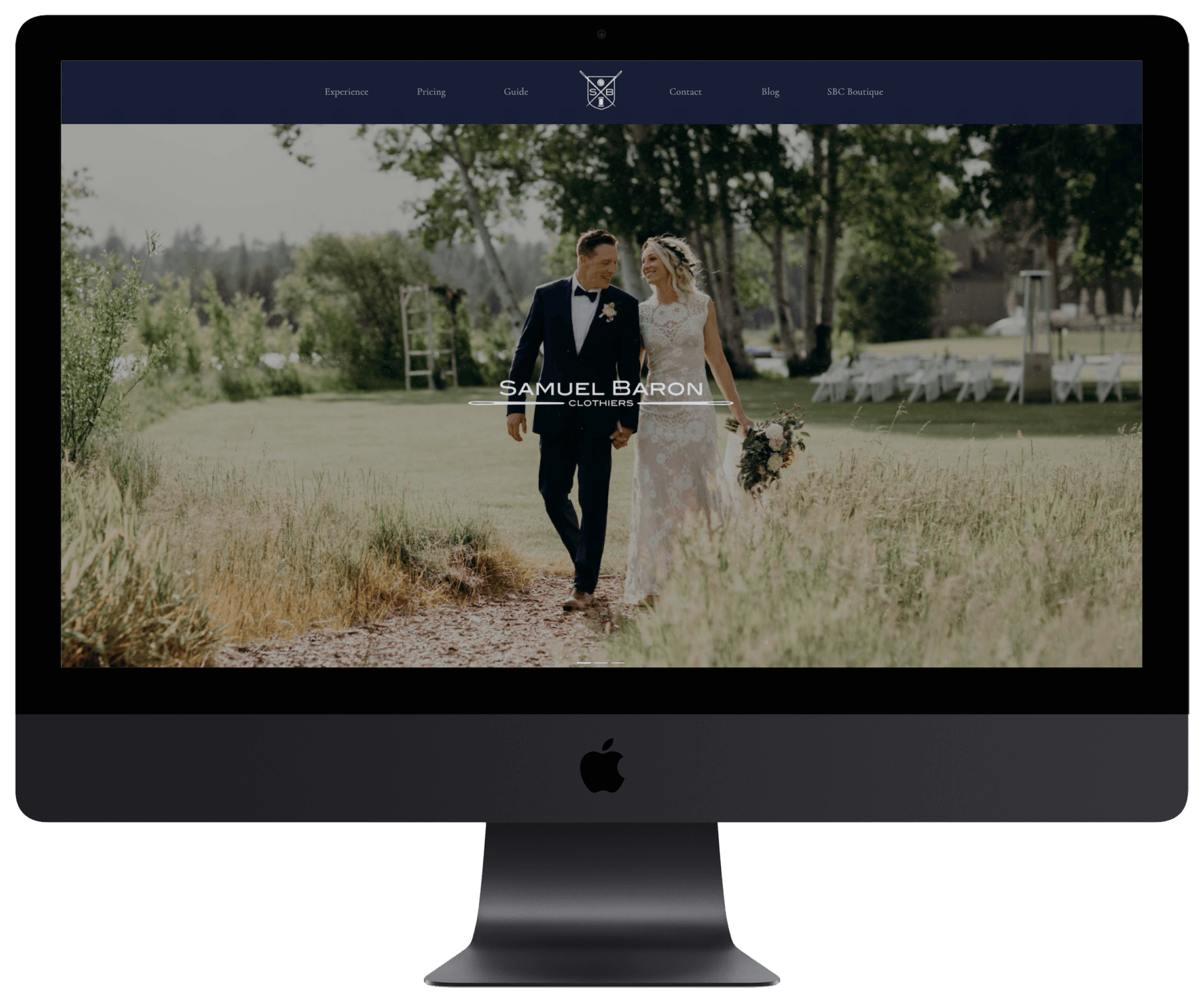 Samuel Baron Clothiers website design